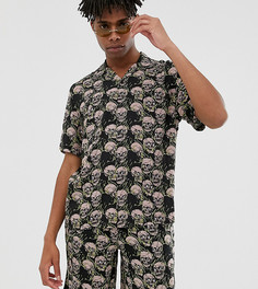 Комбинируемая oversize-рубашка с принтом черепов COLLUSION-Светло-бежевый