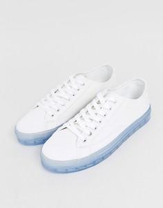 Белые кроссовки с прозрачной подошвой ASOS DESIGN-Белый