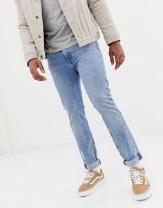 Светлые выбеленные джинсы скинни с классической талией Levis 510 - ross light warp-Синий
