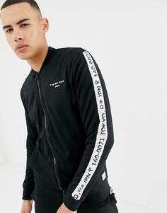 Спортивная куртка с полосками по бокам Only & Sons-Черный