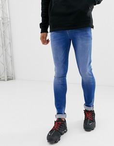 Ярко-синие джинсы скинни ASOS DESIGN-Синий