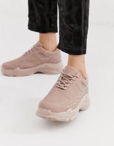 Розовые кроссовки на толстой подошве Public Desire Blend-Розовый