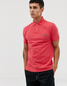 Красное приталенное поло Polo Ralph Lauren-Красный