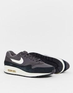 Темно-синие кроссовки Nike Air Max 1-Темно-синий