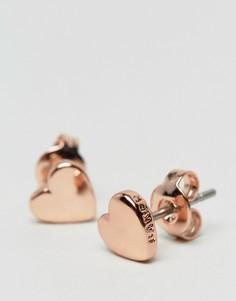 Миниатюрные серьги-гвоздики в форме сердец Ted Baker Harly-Золотой