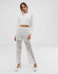 Кружевные брюки Moves By Minimum-Белый
