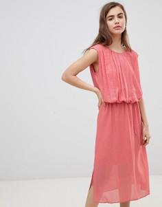 Платье в горошек с эффектом металлик Moves By Minimum-Мульти