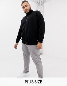 Черная спортивная куртка Tom Tailor Plus-Черный
