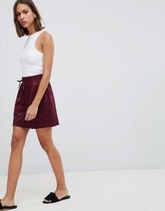 Юбка с камуфляжным принтом Minimum-Красный
