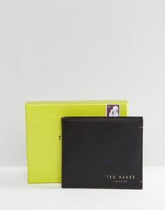 Кожаный складной бумажник с отделением для монет Ted Baker Harvys-Коричневый
