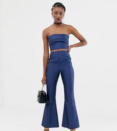 Атласные комбинированные брюки клеш Reclaimed Vintage-Синий