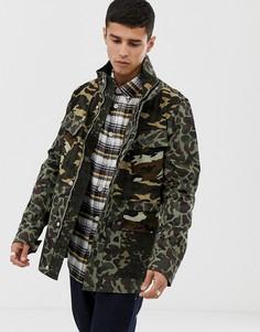 Полевая куртка с камуфляжным принтом цвета хаки PS Paul Smith-Зеленый