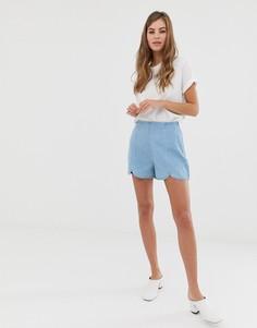 Джинсовые шорты-кюлоты ASOS DESIGN-Синий