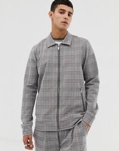 Куртка в клетку Jack & Jones Premium-Серый