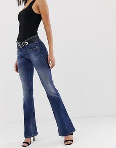 Расклешенные джинсы с классической талией Diesel-Синий