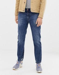 Узкие джинсы в стиле 90-х Diesel Mharky 080AG-Синий