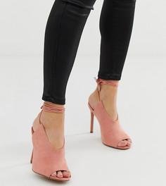 Туфли на высоком каблуке для широкой стопы ASOS DESIGN Wireless-Розовый
