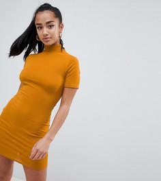 Облегающее платье в рубчик Missguided Petite-Золотой
