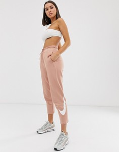 Oversize-джоггеры с логотипом-галочкой Nike-Розовый