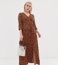 Платье макси с абстрактным принтом Vero Moda Petite-Мульти