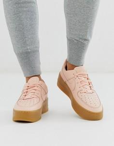 Бледно-розовые низкие кроссовки на резиновой подошве Nike Air Force 1 Sage-Розовый
