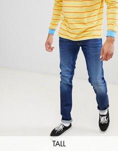 Выбеленные джинсы классического кроя Lee luke-Синий