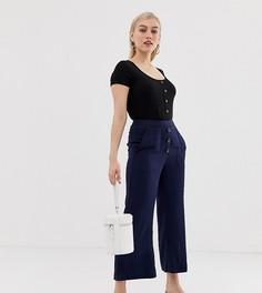 Расклешенные брюки Vero Moda Petite-Темно-синий