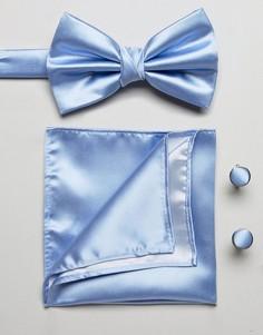 Синий галстук и платок для пиджака Burton Menswear