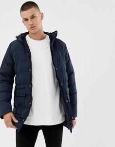 Длинная дутая куртка Tokyo Laundry-Темно-синий