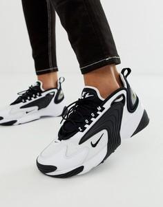 Черно-белые кроссовки Nike 2K Zoom-Белый