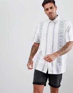 Фактурная свободная рубашка в полоску ASOS DESIGN-Белый
