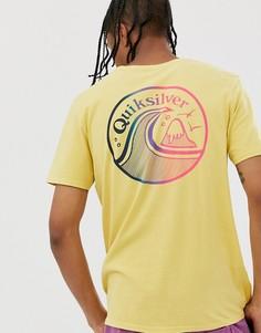 Желтая футболка Quiksilver Faded Potentail-Желтый