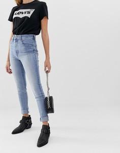 Супероблегающие джинсы с завышенной талией Levis Mile High-Синий