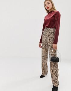 Брюки с леопардовым принтом mByM-Мульти