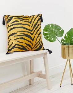 Бархатная подушка с тигровым рисунком ASOS SUPPLY-Мульти