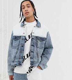 Сине-белая джинсовая куртка COLLUSION-Синий