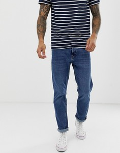 Синие джинсы слим Bershka-Синий