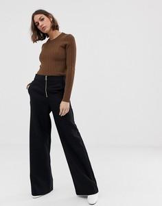 Широкие брюки Selected Tola-Черный