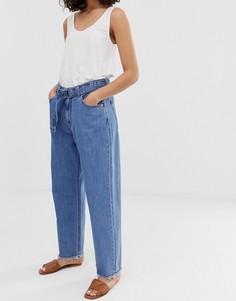 Свободные джинсы из органического хлопка с завышенной талией Kings Of Indigo-Синий