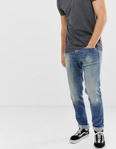 Выбеленные джинсы слим с эффектом 10-летней состаренности Replay Anbass-Синий