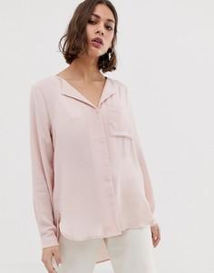 Рубашка с отложным воротником Selected Dynella-Розовый