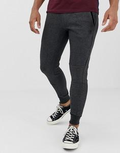 Темно-серые облегающие трикотажные джоггеры с логотипом Jack & Jones-Серый