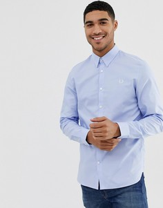 Светло-синяя оксфордская рубашка Fred Perry-Синий