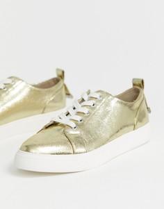 Кроссовки на шнуровке ASOS DESIGN Durban-Золотой
