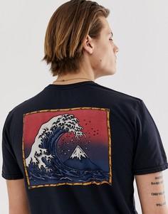 Черная футболка Quiksilver The Original Mountain & Wave-Черный