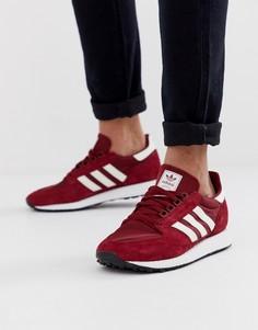 Бордовые кроссовки adidas Originals Forest Grove-Красный
