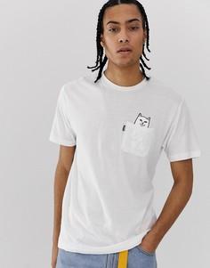Белая футболка с карманом RIPNDIP-Белый