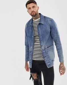 Джинсовая куртка ASOS DESIGN-Синий