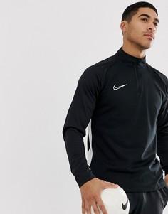Черный свитшот с молнией Nike Football academy