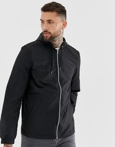 Черная спортивная куртка с капюшоном ASOS DESIGN-Черный